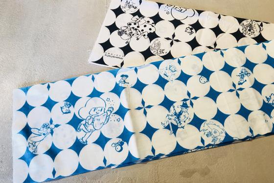 プロジェクトFUKUSHIMA!オリジナル手ぬぐい+缶バッジ (手ぬぐいのデザインは変更の場合がございます。)