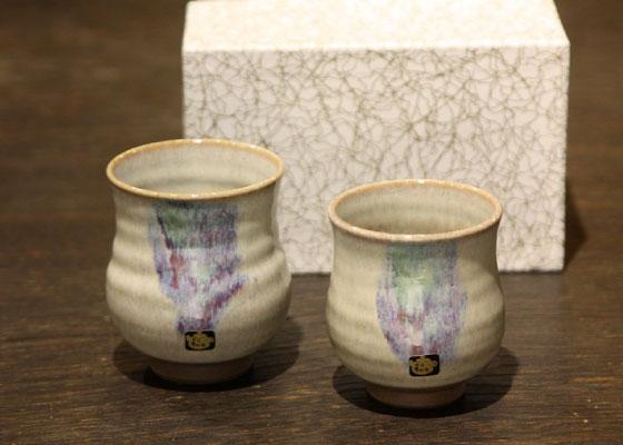 会津慶山焼きの夫婦湯呑です。 ※定価2916円(税込)