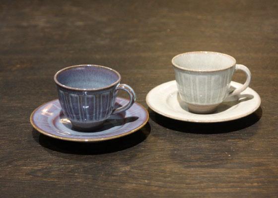 会津慶山焼の新作、コーヒーカップ2客セットです。 発送時期は、2019年3月以降となります。※8640円(税込)