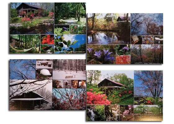 マクロビアンの素晴らしい四季の彩を絵葉書にしました。<通常価格980円>