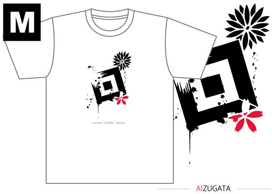 【制作者】 国際アート&デザイン大学校  イラストレーション科 2年 菅野萌さん  【作品タイトル】 AIZUGATA  【デザインポイント】 会津型をそのまま利用し、会津型のデザインが生きるデザインを目指しました。会津型の一つ一つのデザインがとても素敵なものです。ただ柄に仕様されるだけではとても勿体無いと感じました。そこで、デザインそのものを活かし、「このデザインかっこいい!」とお客様が会津型に興味を持って頂けたら良いなと思いこのようにデザインしました。 和風を感じさせるよう墨を散りばめました。ワンポイントでカラーが入ることで更に目を惹きつける効果を出しました。 また、「AI」の文字に会津型グラフィックス関係者の方々の会津型への愛を込めました。  【スペック】 4.4オンス ドライTシャツ(ポリエステル100%)吸汗速乾,UVカット Sサイズ / 身丈65cm,身巾47cm,肩巾44cm,袖丈20cm Mサイズ / 身丈68cm,身巾50cm,肩巾46cm,袖丈21cm Lサイズ / 身丈71cm,身巾53cm,肩巾48cm,袖丈22cm  【お届け】 サポート募集終了から約1ヶ月(12月初旬頃)