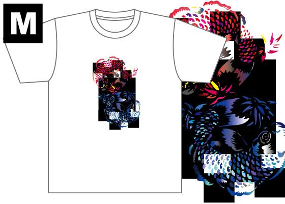 【制作者】 国際アート&デザイン大学校  イラストレーション科 1年 秦 実紀さん  【作品タイトル】 つがい  【デザインポイント】 鯉の鱗の色や尾びれ、背びれの色をカラフルにした所、また見たときに面白く見えるように背びれなどにグラデーションをいれました。 同じ色同士が隣にこないように工夫しました。  【スペック】 4.4オンス ドライTシャツ(ポリエステル100%)吸汗速乾,UVカット Sサイズ / 身丈65cm,身巾47cm,肩巾44cm,袖丈20cm Mサイズ / 身丈68cm,身巾50cm,肩巾46cm,袖丈21cm Lサイズ / 身丈71cm,身巾53cm,肩巾48cm,袖丈22cm  【お届け】 サポート募集終了から約1ヶ月(12月初旬頃)