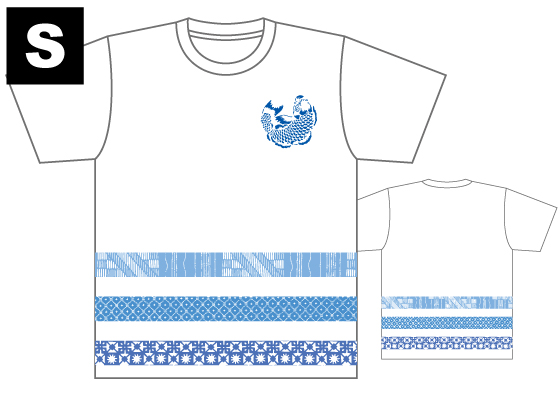 【制作者】 国際アート&デザイン大学校  イラストレーション科 2年 柳田 うららさん  【作品タイトル】 涼  【デザインポイント】 半袖のT シャツという事で、より清涼感があり日々の生活の中でも使えるデザインにしました。 白を基調とすることで、より爽やかな印象に仕上げました。  【スペック】 4.4オンス ドライTシャツ(ポリエステル100%)吸汗速乾,UVカット Sサイズ / 身丈65cm,身巾47cm,肩巾44cm,袖丈20cm Mサイズ / 身丈68cm,身巾50cm,肩巾46cm,袖丈21cm Lサイズ / 身丈71cm,身巾53cm,肩巾48cm,袖丈22cm  【お届け】 サポート募集終了から約1ヶ月半(12月下旬頃)