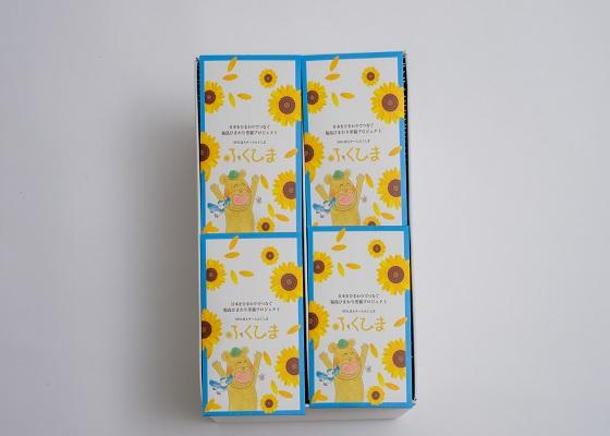 ・お礼のお手紙 ・SDGsボックス 1箱  ※SDGsボックスについて 団体・企業様向け 【内容】 ・ひまわりの種10粒×100袋(オリジナルポチ袋入り) ・説明書  「SDGsボックス」は、袋入れ・箱詰めを福島県二本松市の障がい者福祉作業所「なごみ」の皆さんに行って頂いております。 育てられたひまわりから採れた種を福島へお送りいただけますと、福島県内で栽培され、採取した種から搾油し、バイオ燃料に加工し、福島県福島市内を走る路線バスの燃料の一部に活用されるため、SDGsの7・8に貢献することができます。
