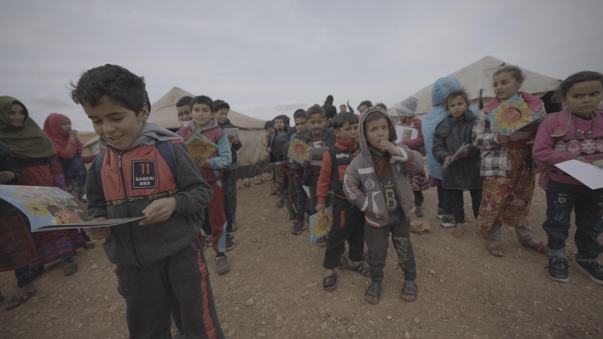 ◇絵本を読むシリアの子どもたち 動画紹介!