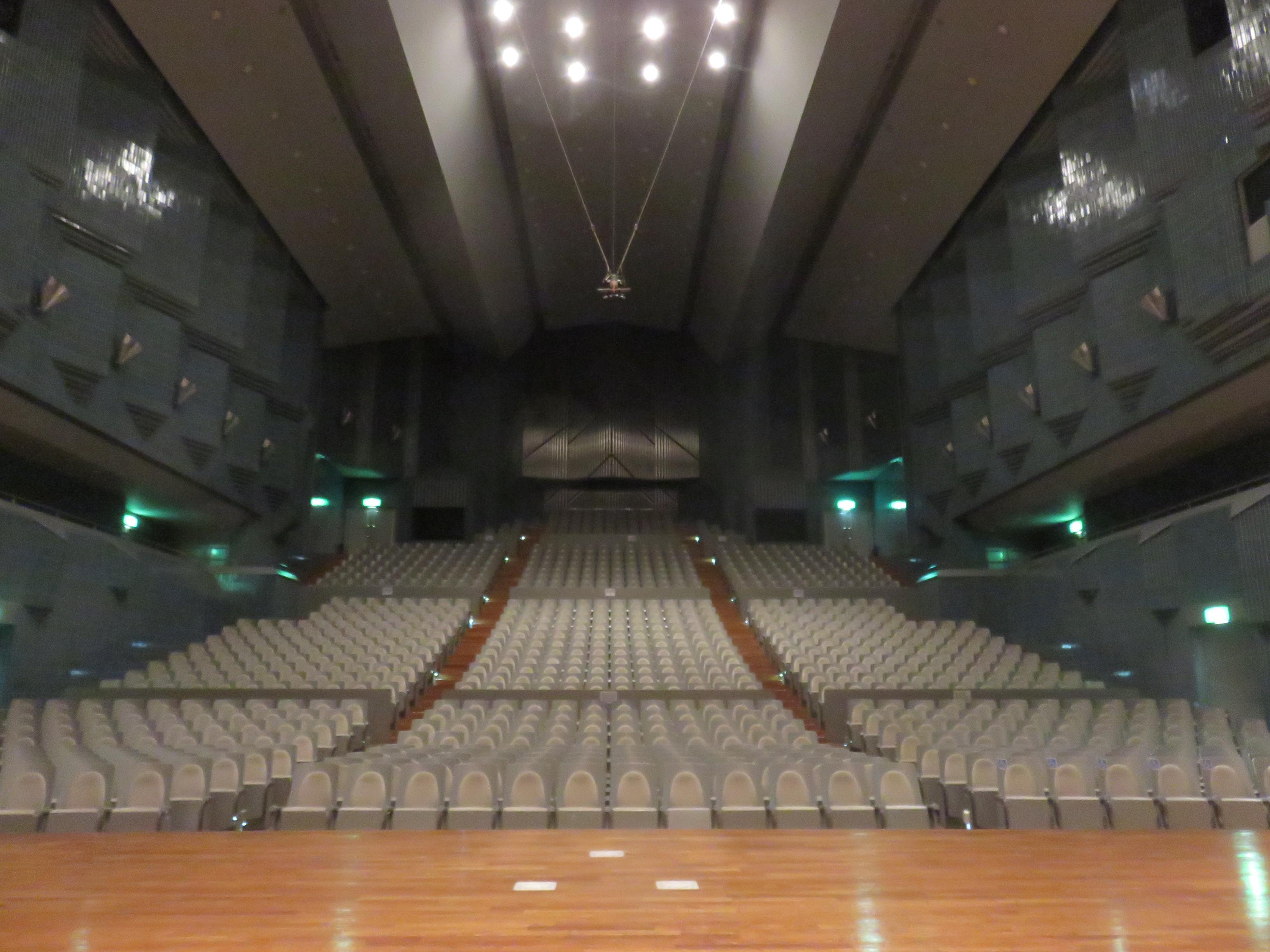 音楽堂で演奏体験!!