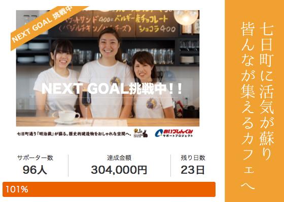 目標金額30万円を達成しました!