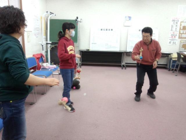 2月19日やまき8段けん玉教室が開かれました!!