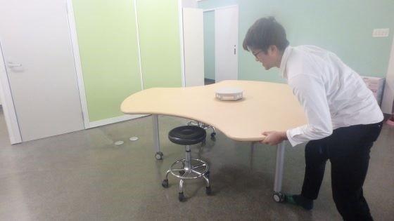 変な形のテーブル組立!!