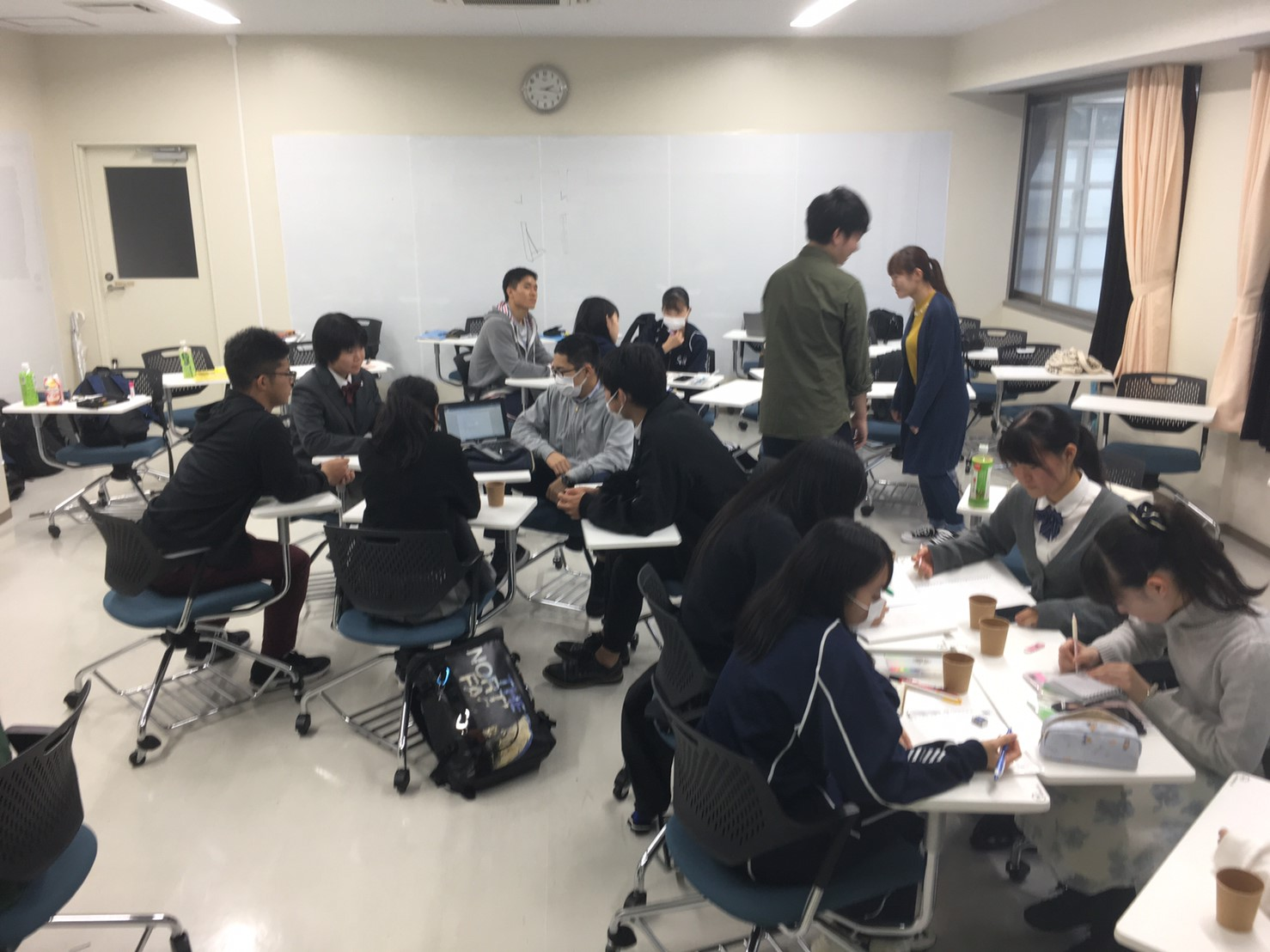 今日は福島大学に集まって活動しました!